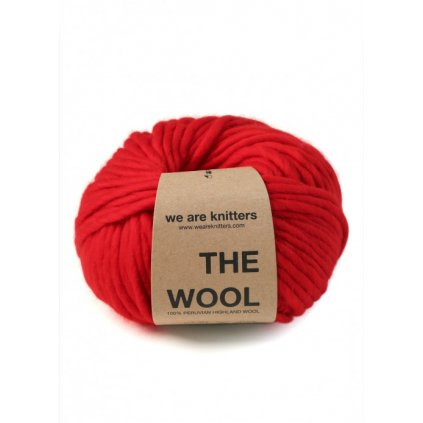 skeins knitting wool bright red 01