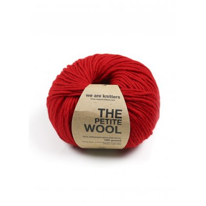 petite wool yarn balls red 1
