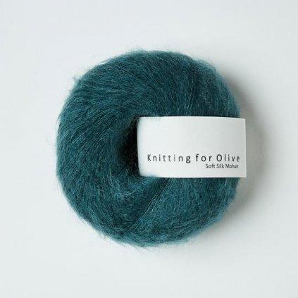 Knitting for olive soft silk mohair stovet petroliumsgron 8351 540x