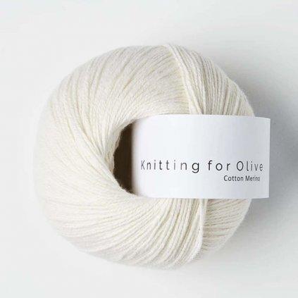 Knitting for Olive Cotton Merino - Natural White