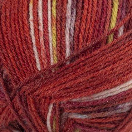 Drops Fabel print 159 - červené chili