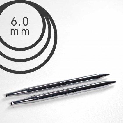 Jehlice kruhové výměnné Knit Pro NOVA METAL - 6.00 mm