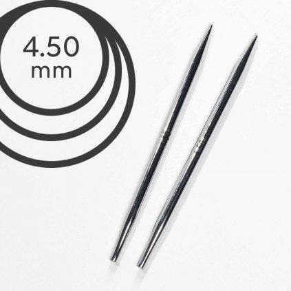 Jehlice kruhové výměnné Knit Pro NOVA METAL - 4.50 mm (zkrácené)
