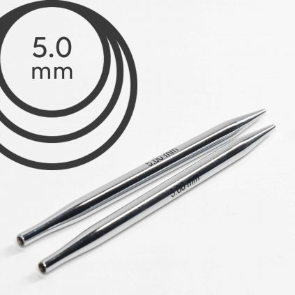 Jehlice kruhové výměnné Knit Pro NOVA METAL - 5.00 mm (zkrácené)