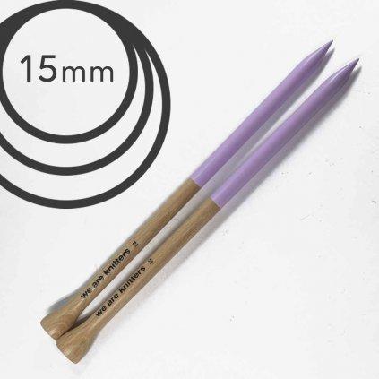 Jehlice rovné  WAK Mauve - 15.00 mm