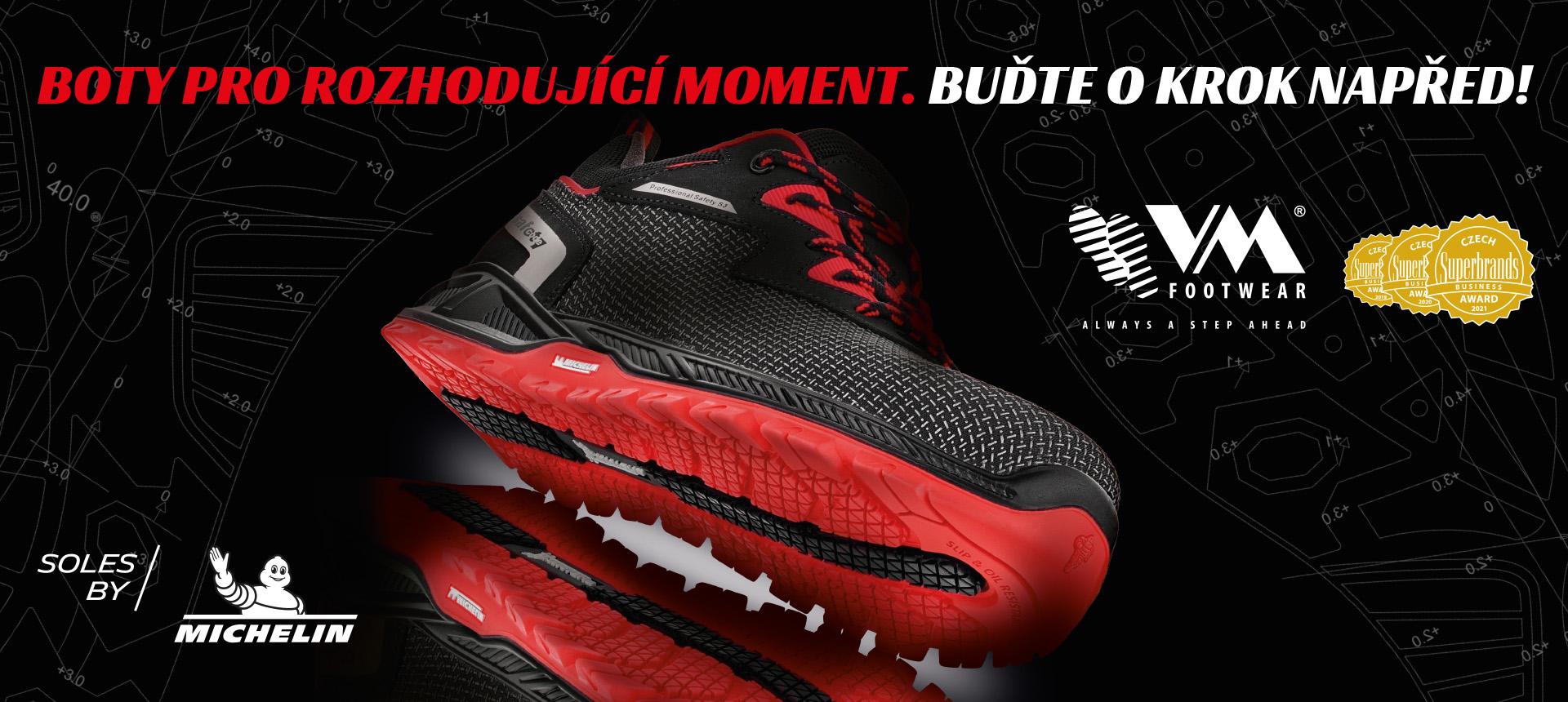 Bezpečnostní obuv s Michelin® podešví