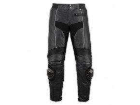 kožené motorkářské kalhoty