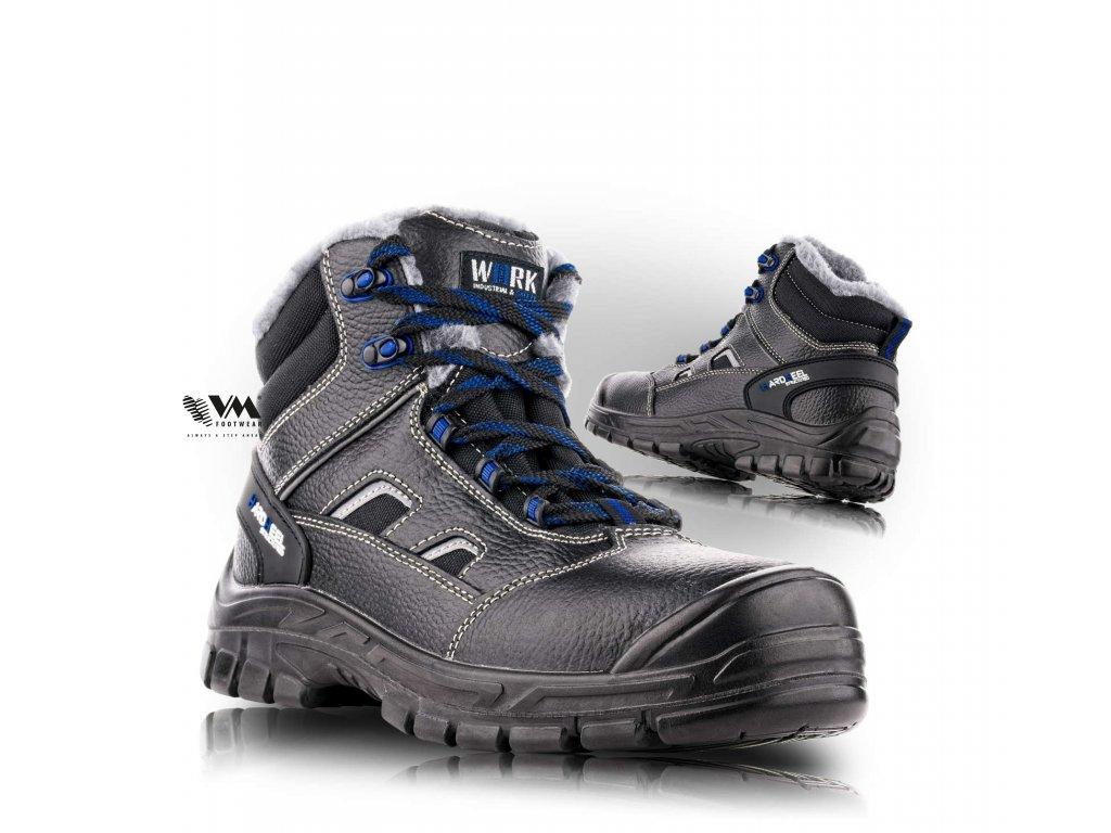 BRUSEL členková bezpečnostná obuv, zimná