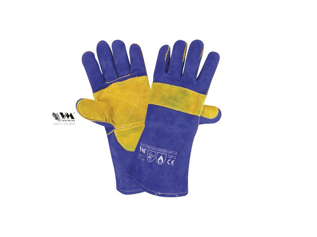 W1/20-ochranné pracovné zváračské rukavice