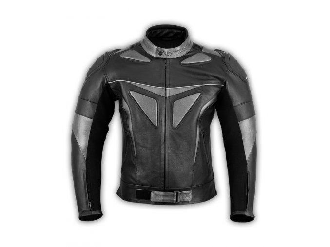 kožená motorkárska bunda