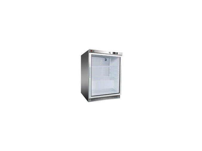REDFOX Chladící skříň nerezová, prosklené dveře DR