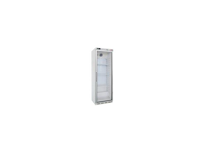 REDFOX Mrazící skříň bílá, prosklené dveře HF