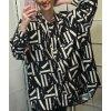 Halenka košile dlouhý rukáv dámská (XL/3XL oversize, ONE SIZE) ITALSKÁ MÓDA IM421115/DR