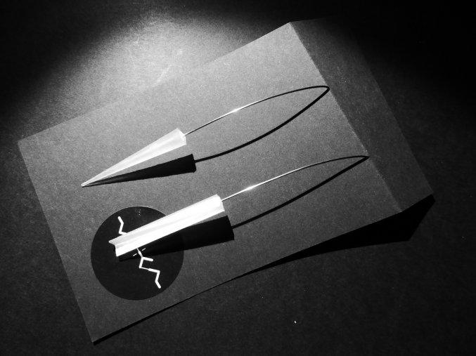 Kubická kolekce - kvádr náušnice