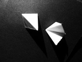 Kubická kolekce - krychle malé - náušnice