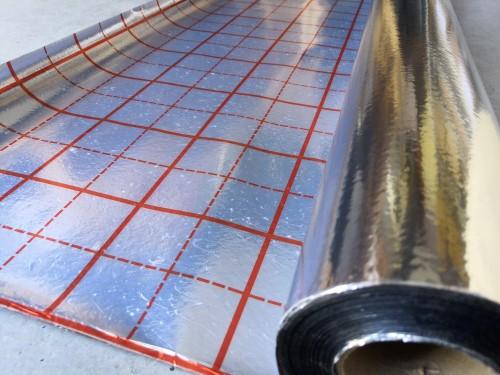 Reflexní folie pod podlahové topení