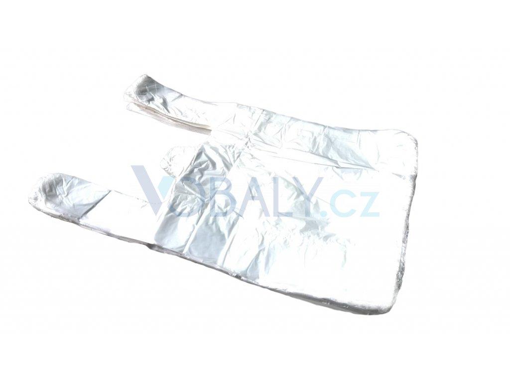 mikrotenova taška košilka 22x40+10cm bílá