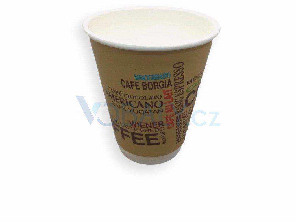 Papírové kelímky s potiskem, na kávu