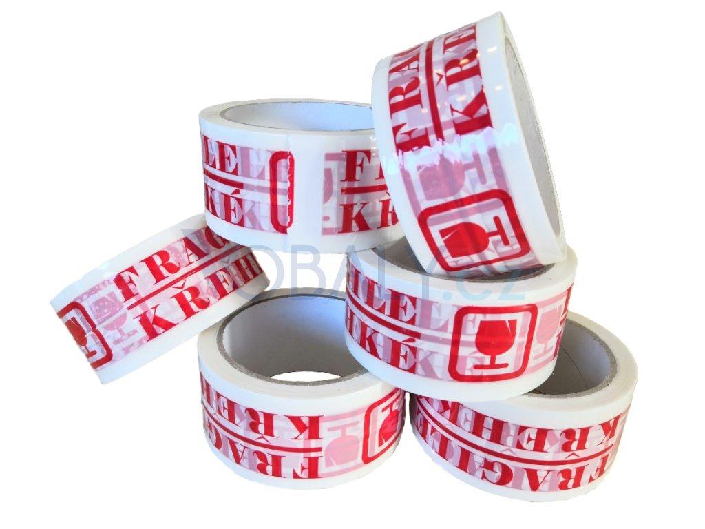 lepící páska s potiskem křehké superlepící obalové materiály vobaly obaly
