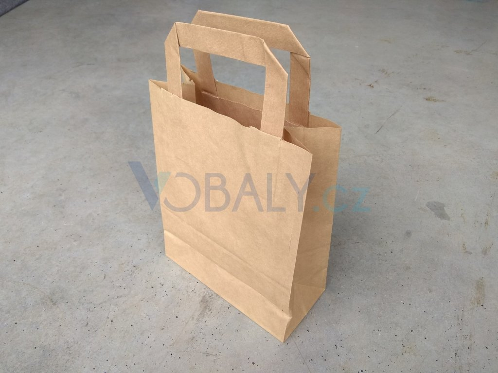 papírová taška přírodní křížové dno