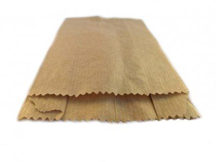 papírový sáček plochý kupecký lékarenský s boky s křížovým dnem