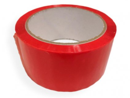 lepící páska červená akryl akrylová bopp