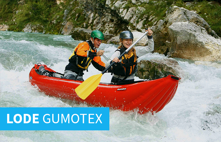 Nafukovacie kajaky, rafty a kanoe Gumotex