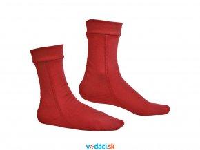 teple ponozky hiko teddy cervene