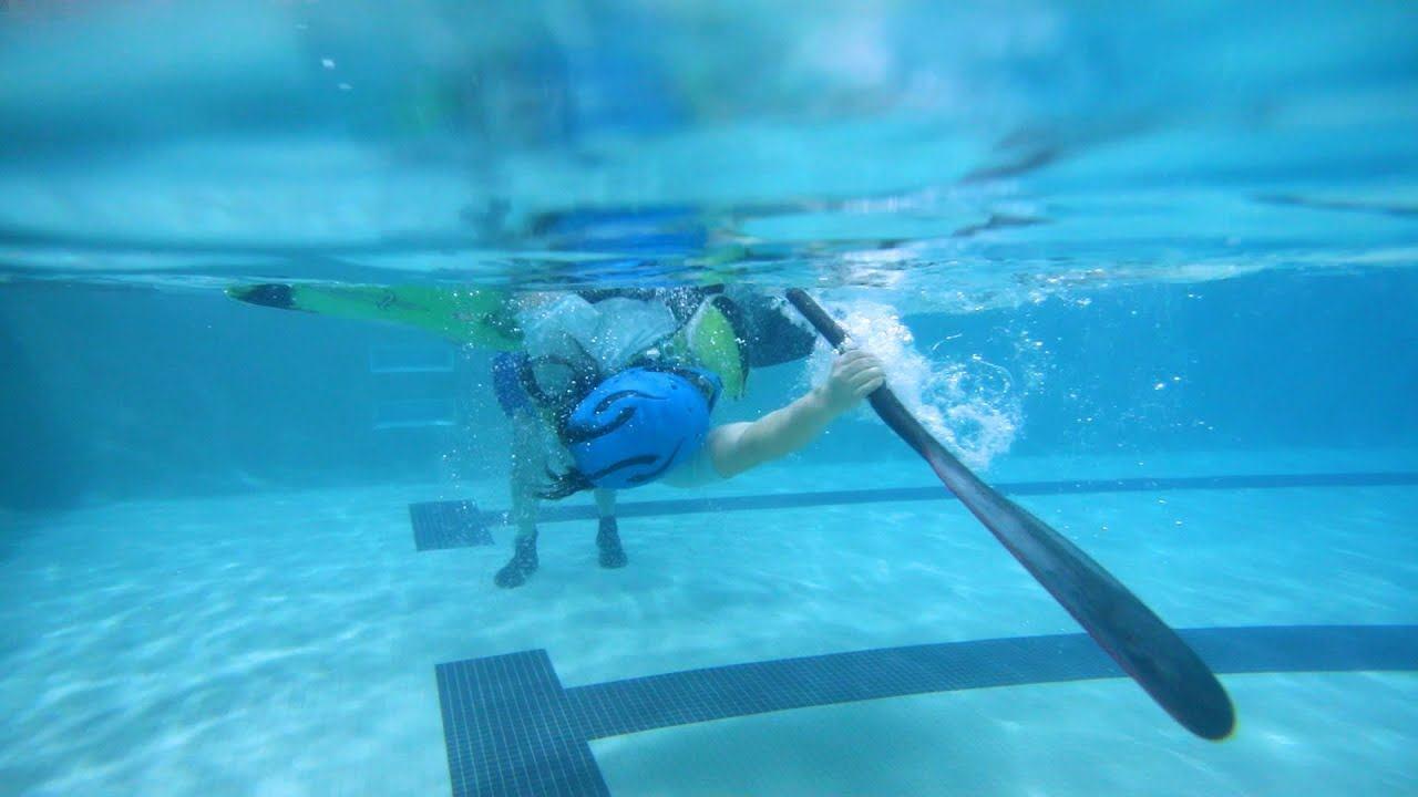 Zimní eskymování v bazénu