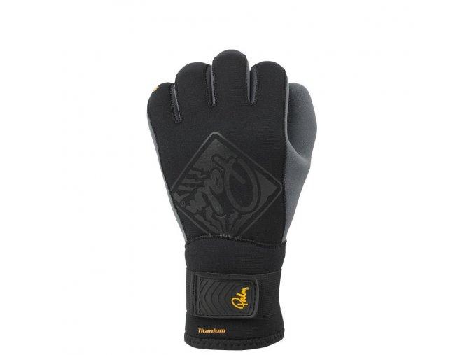 10499 Hook gloves Black front
