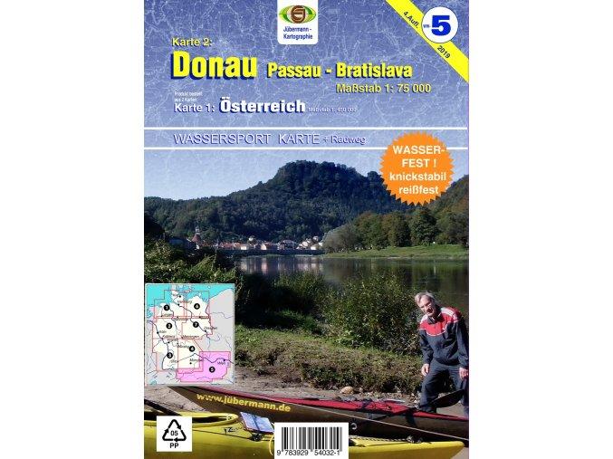 Karte Juberman Donau Radweg d