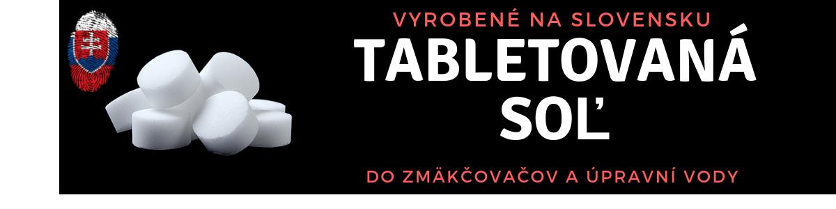 Tabletovaná soľ pre zmäkčovač a úpravňu vody. Kvalitná tabletovaná soľ vyrobená na Slovensku