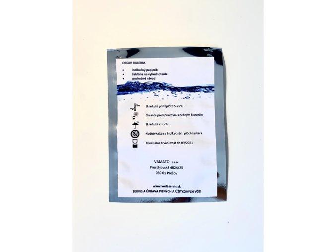 rozbor vody - domáci test pitnej a studničnej vody