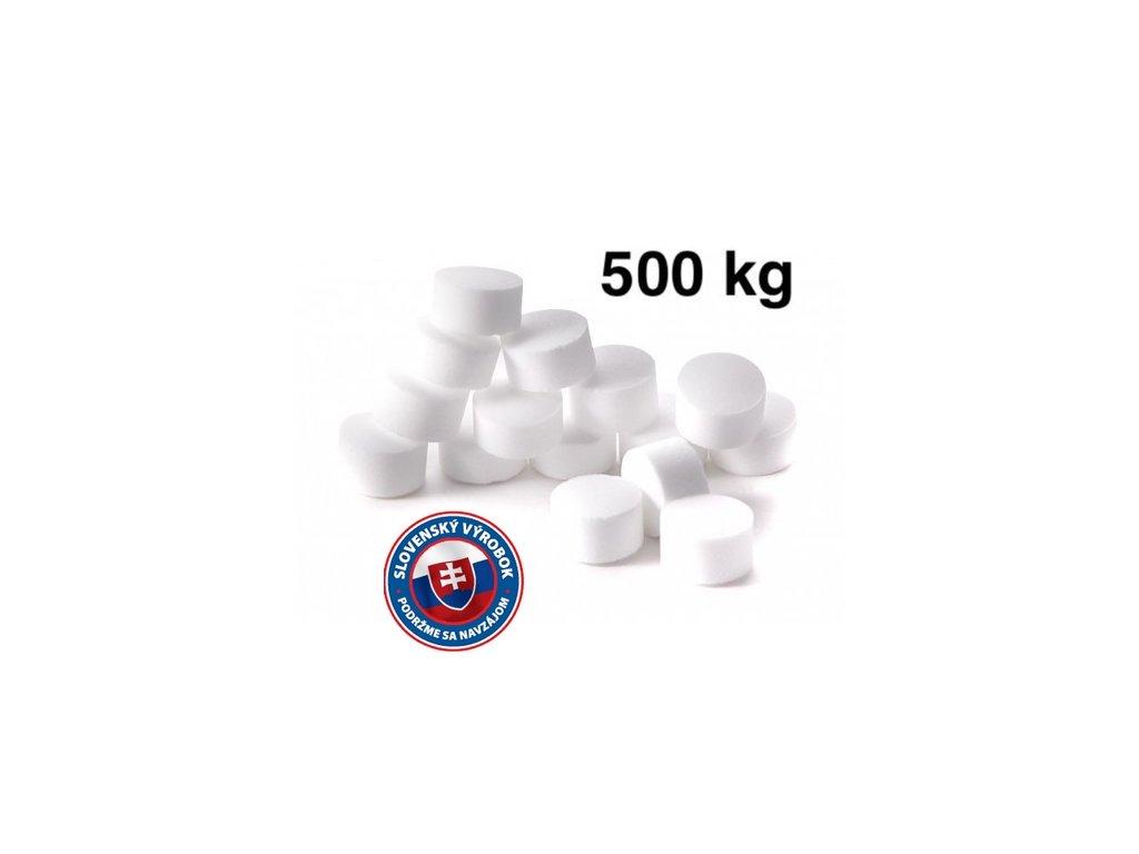 Tabletovaná soľ (20x25kg) na regeneráciu úpravní vôd a zmäkčovačov pre domácnosti a priemysel, top cena v SR.