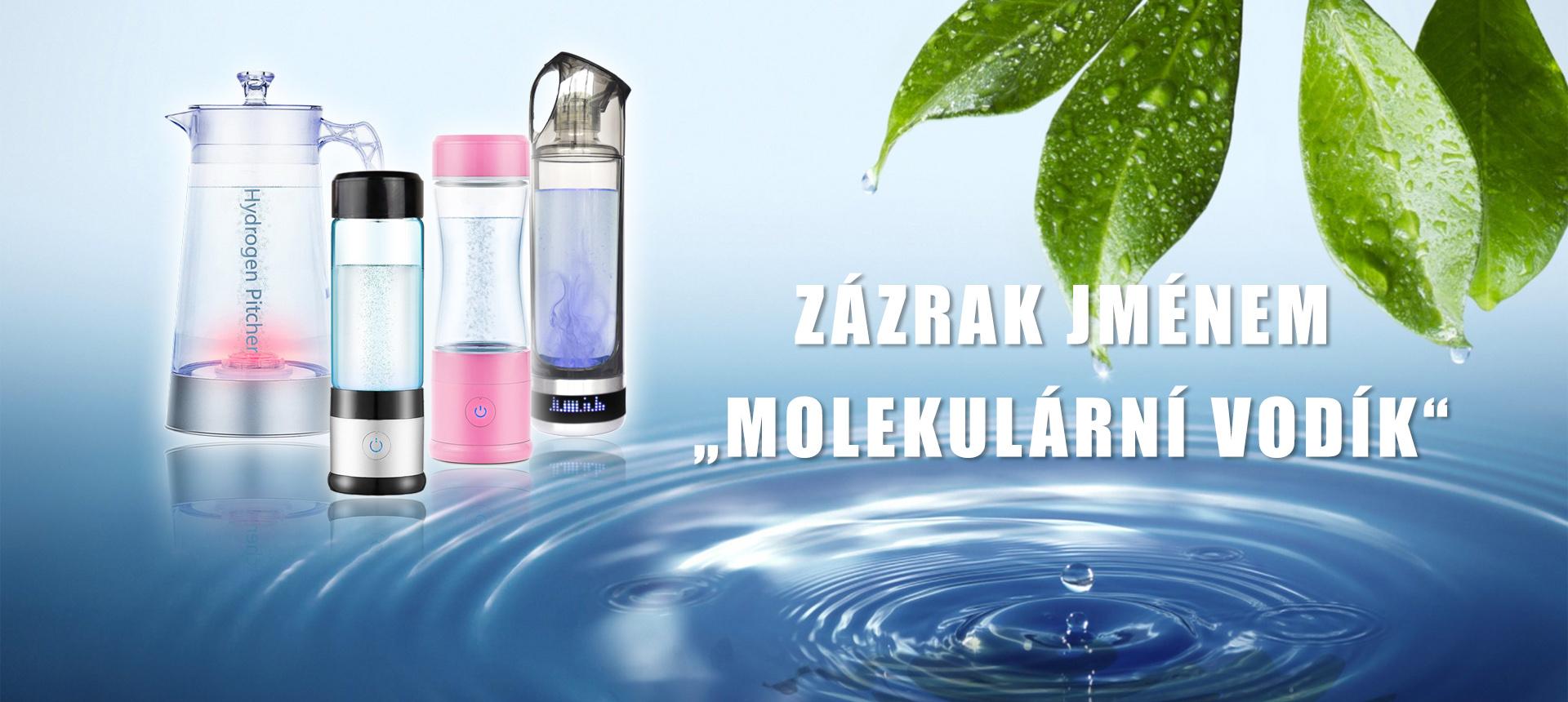 Lahve na výrobu molekulárního vodíku