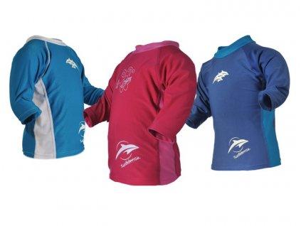 Konfidence detské lycrové tričko  UV modro-biele