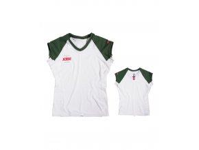 Dámske lycrové tričko Progress Vneck green