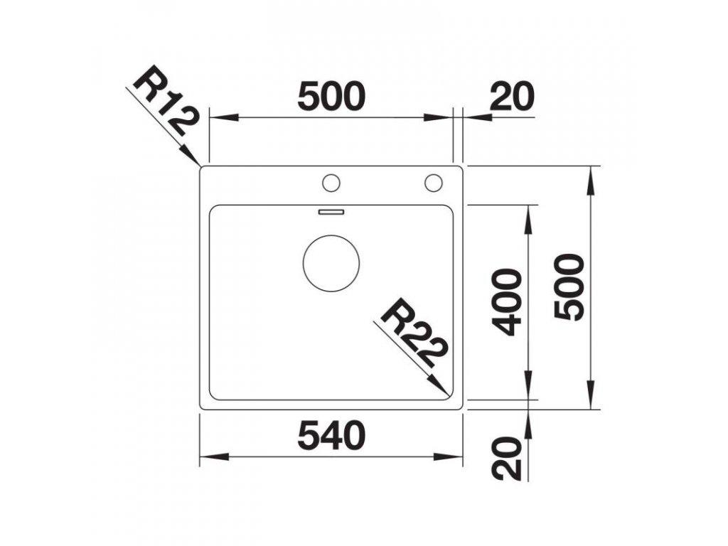 blanco d ez andano 500 if a s t hlem vodovo cz. Black Bedroom Furniture Sets. Home Design Ideas