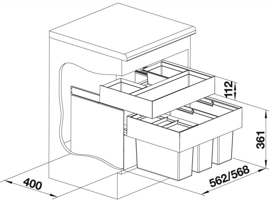 blanco sorter select orga 60 3 vodovo cz. Black Bedroom Furniture Sets. Home Design Ideas