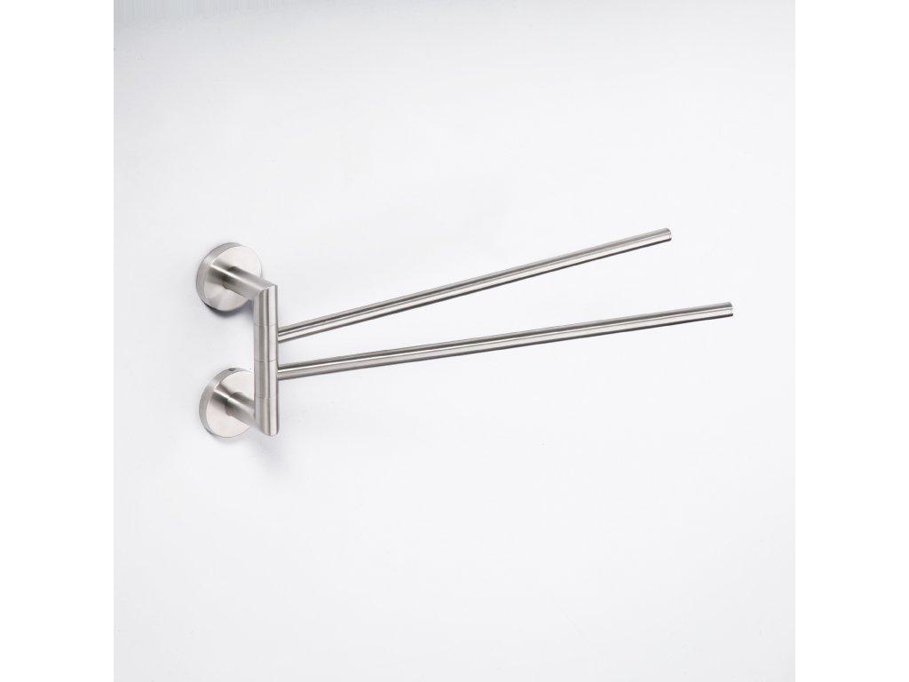 Bemeta Dvojitý držák ručníků otočný Neo 104204105