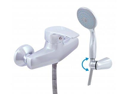 RAV Slezák baterie sprchová nástěnná se sprchou a držákem KONGO K080.0/2 (100 mm)
