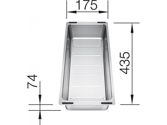 Blanco miska nerezová pro Subline 435 x 175 x 74