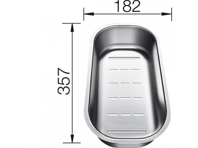 Blanco multifunkční nerez miska pro Classic Pro 6 S, 45