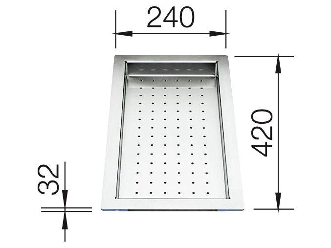Blanco odkapní deska nerez pro  Supra, Zerox U, Zerox IF 420 x 240 x 32