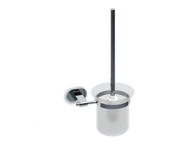 Držák s nádobkou a WC štětkou Ravak (mléčné sklo) CR 410.00