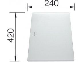 Blanco krájecí deska z tvrzeného bílého skla pro Zerox 420 x 240