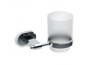 Držák s pohárkem Ravak (mléčné sklo) CR 210.00
