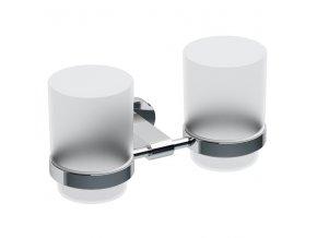 Držák se dvěma pohárky Ravak (mléčné sklo) CR 220.00