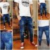 pánské džíny s gumou v pase