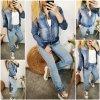 džínová bunda na zip